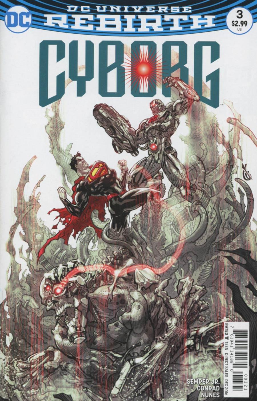 Cyborg Vol 2 #3 Cover B Variant Carlos DAnda Cover