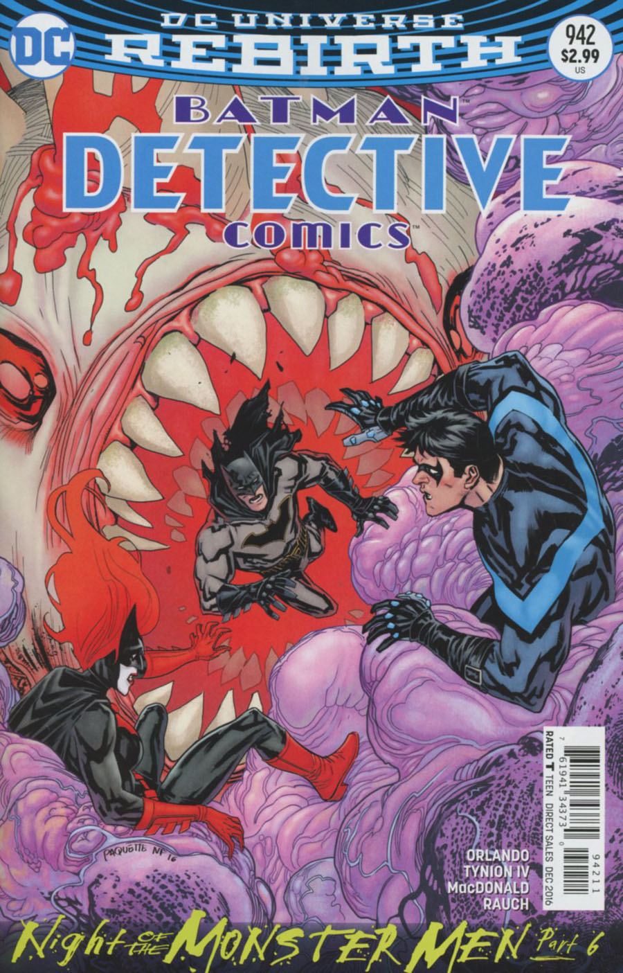 Detective Comics Vol 2 #942 Cover A Regular Yanick Paquette Cover (Night Of The Monster Men Part 6)
