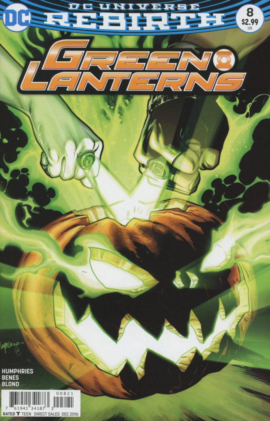 Green Lanterns #8 Cover B Variant Emanuela Lupacchino Cover