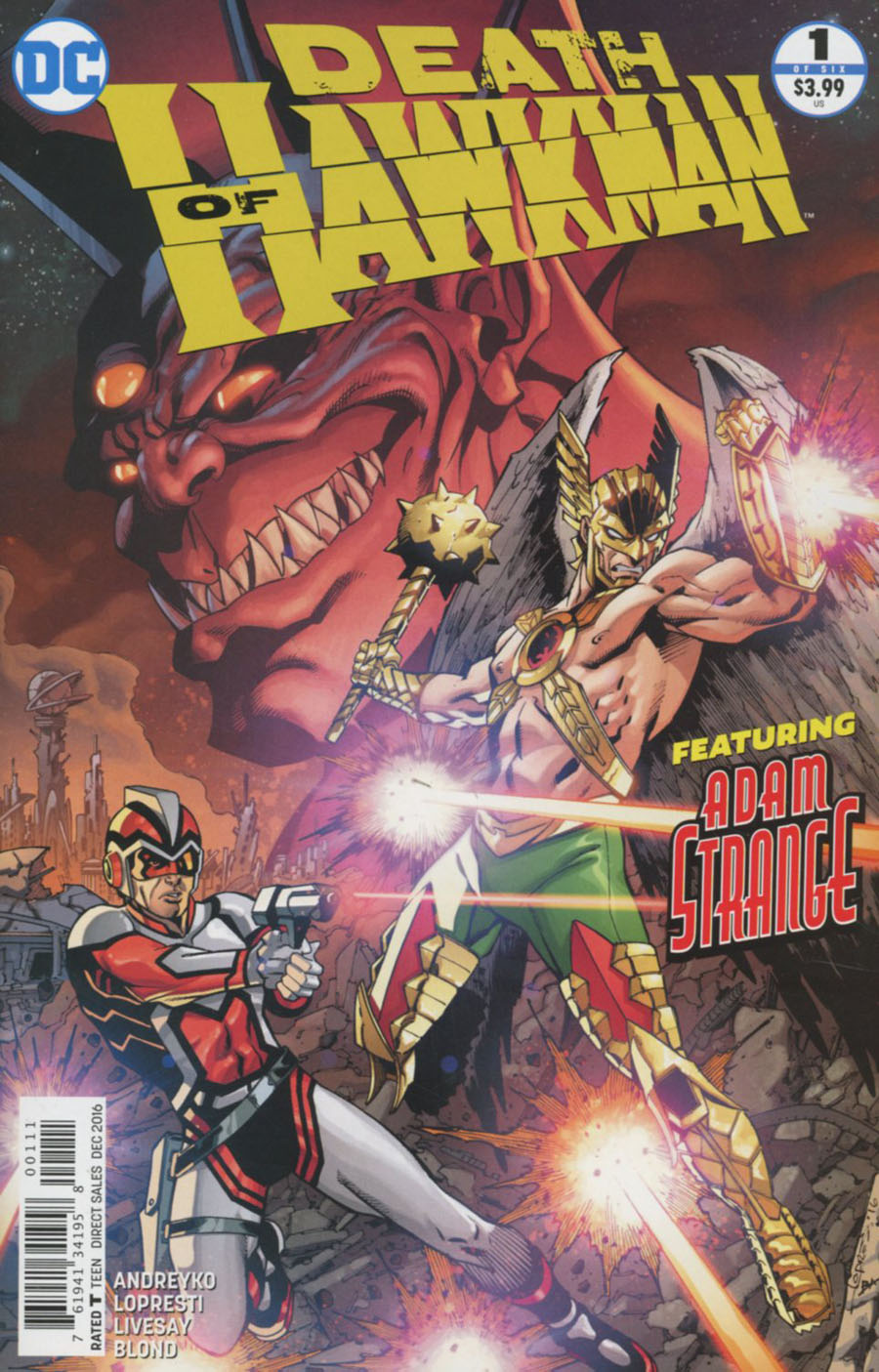 Death Of Hawkman #1 Cover A Regular Aaron Lopresti Cover