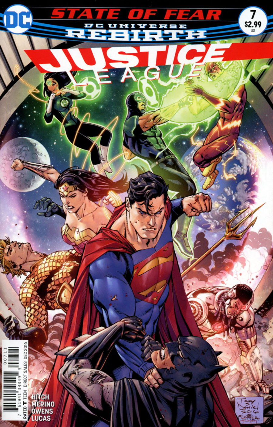 Justice League Vol 3 #7 Cover A Regular Tony S Daniel & Sandu Florea Cover
