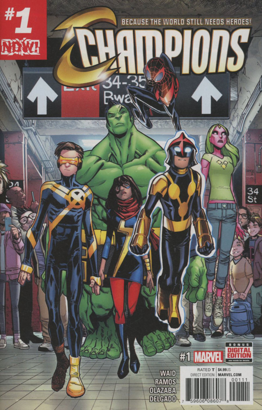 Champions (Marvel) Vol 2 #1 Cover A 1st Ptg Regular Humberto Ramos Cover (Marvel Now Tie-In)