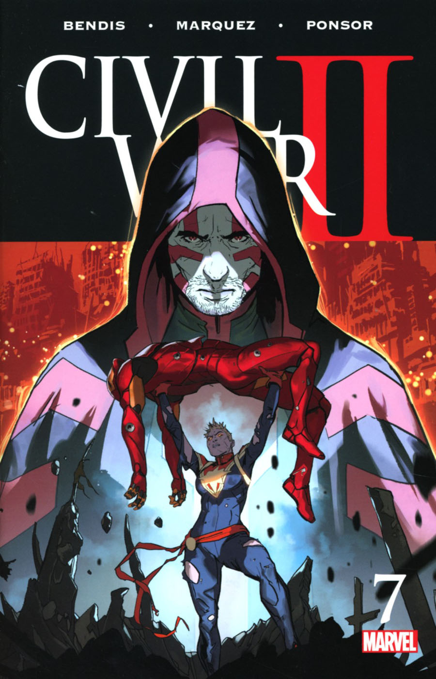 Civil War II #7 Cover A Regular Marko Djurdjevic Cover
