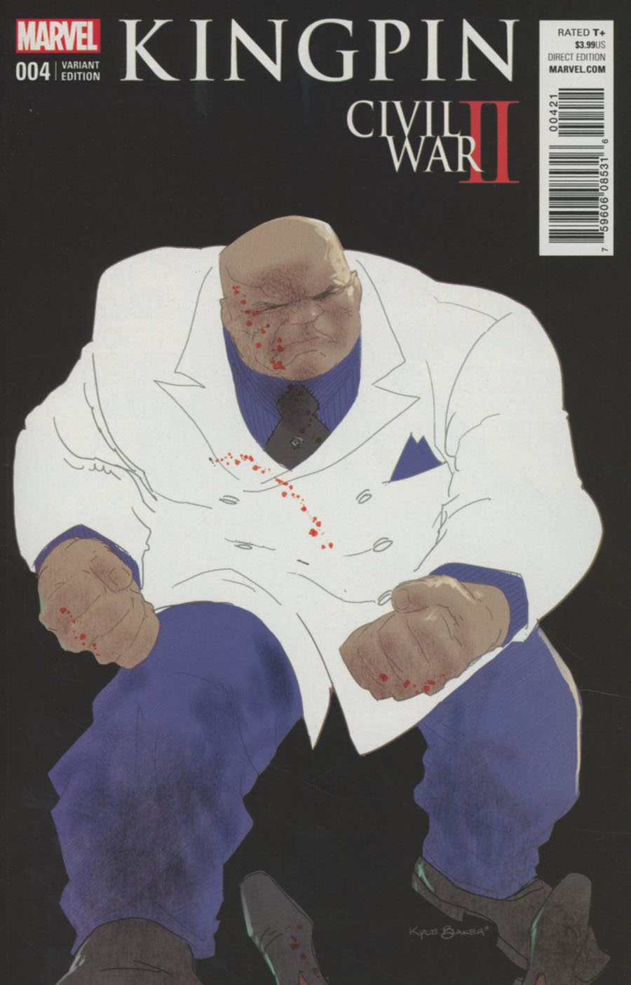 Civil War II Kingpin #4 Cover B Variant Kyle Baker Cover