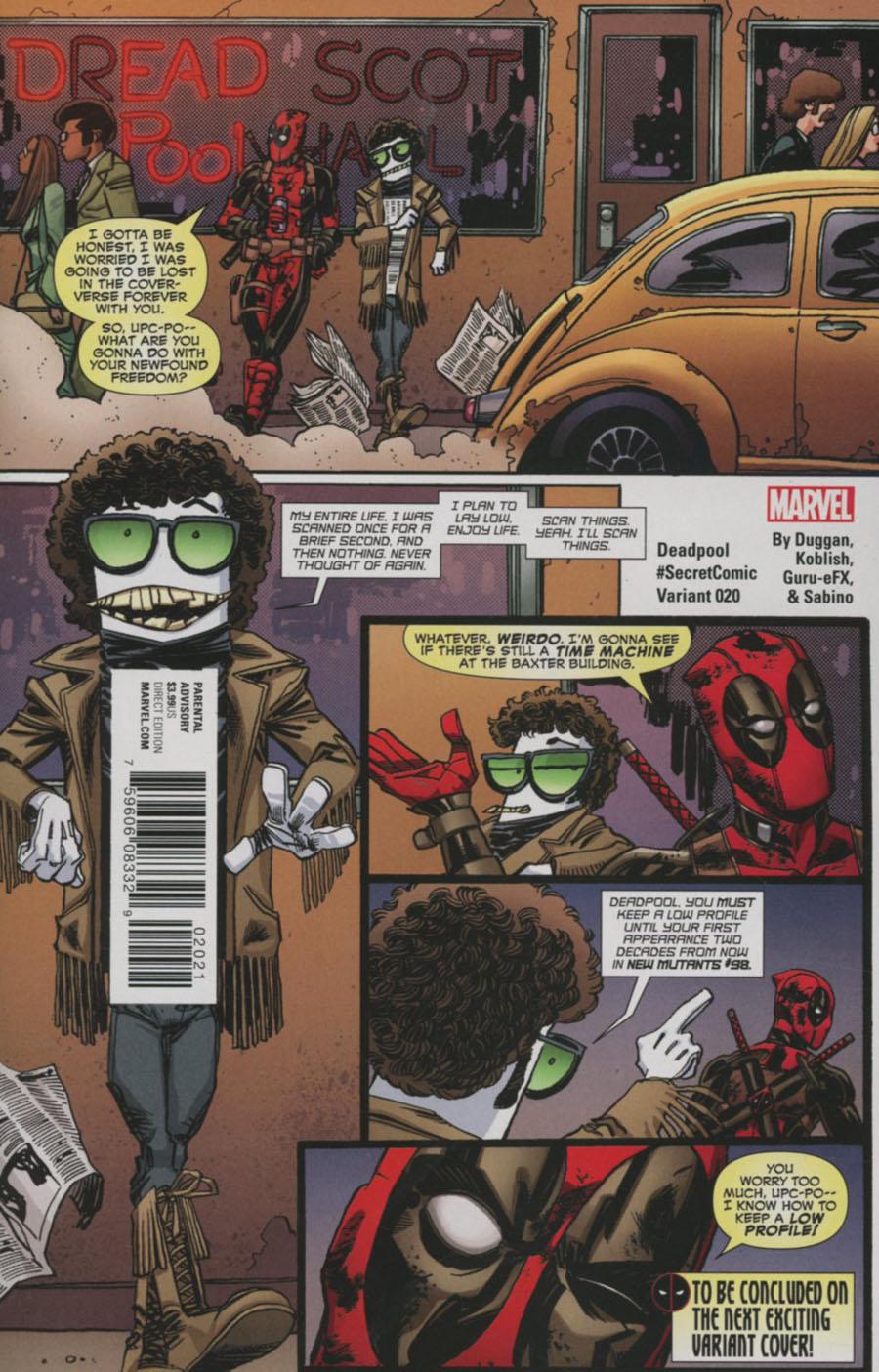 Deadpool Vol 5 #20 Cover B Variant Scott Koblish Cover