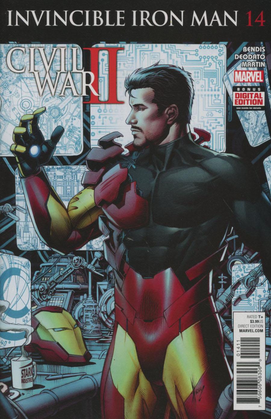 Invincible Iron Man Vol 2 #14 Cover A 1st Ptg (Civil War II Tie-In)