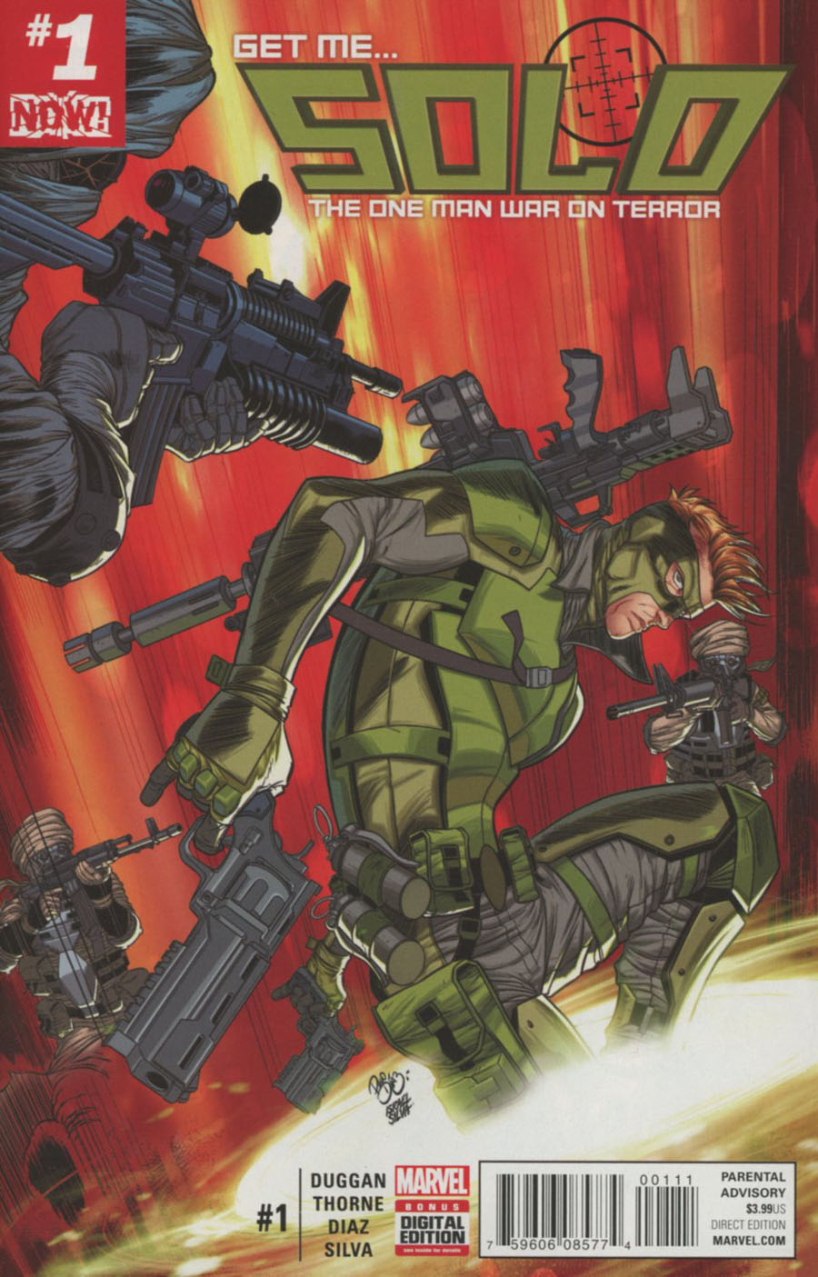 Solo (Marvel) Vol 2 #1 Cover A 1st Ptg Regular Paco Diaz Cover (Marvel Now Tie-In)