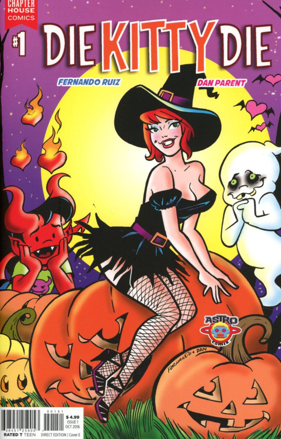 Die Kitty Die #1 Cover E Variant Dan Parent & Fernando Ruiz Cover