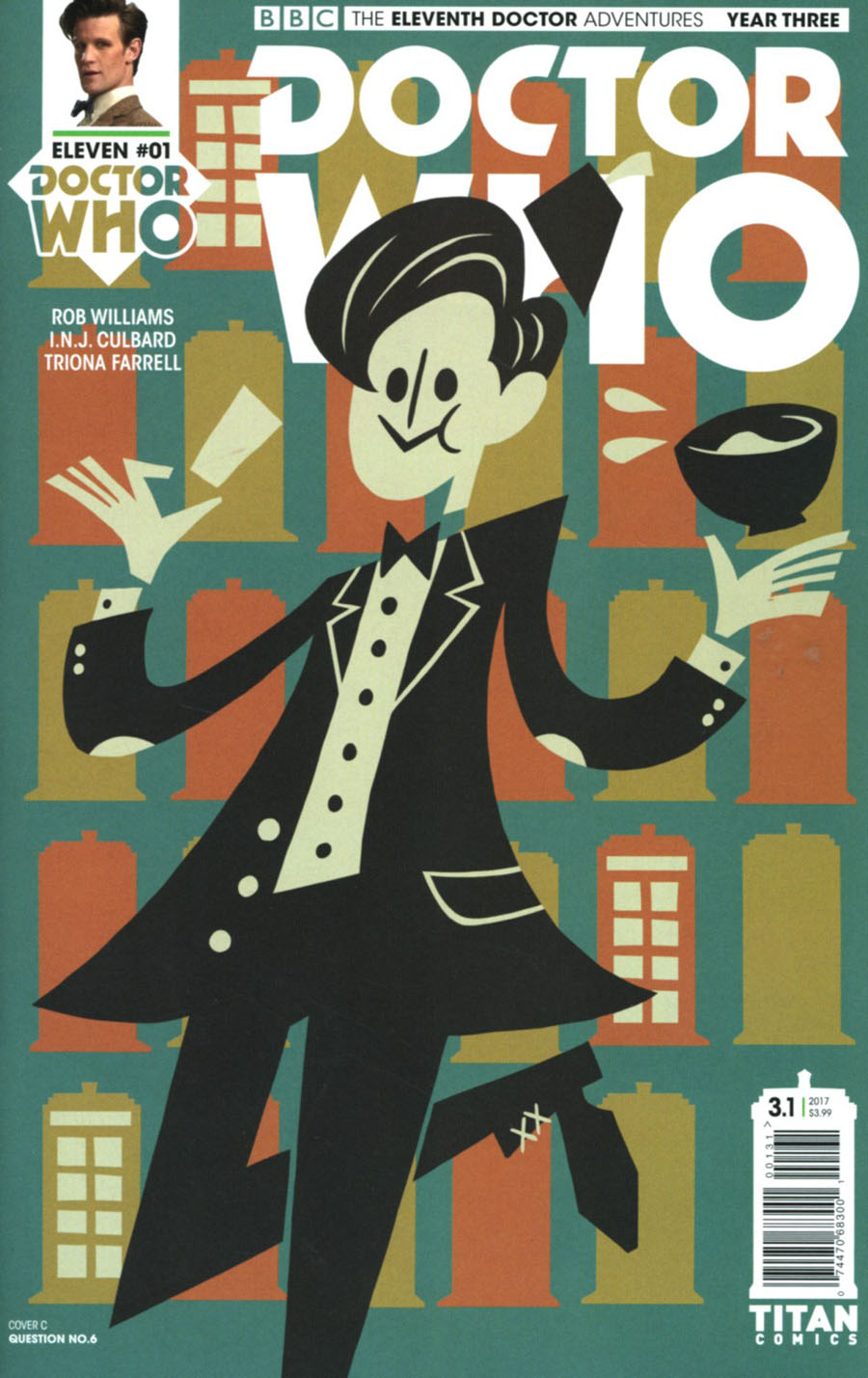 Doctor Who 11th Doctor Year Three #1 Cover C Variant Question No 6 Cover