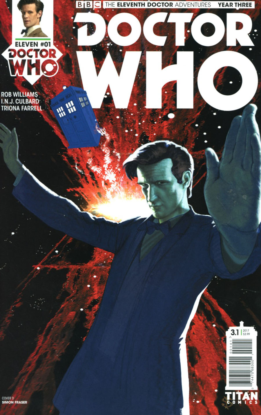 Doctor Who 11th Doctor Year Three #1 Cover D Variant Simon Fraser Cover