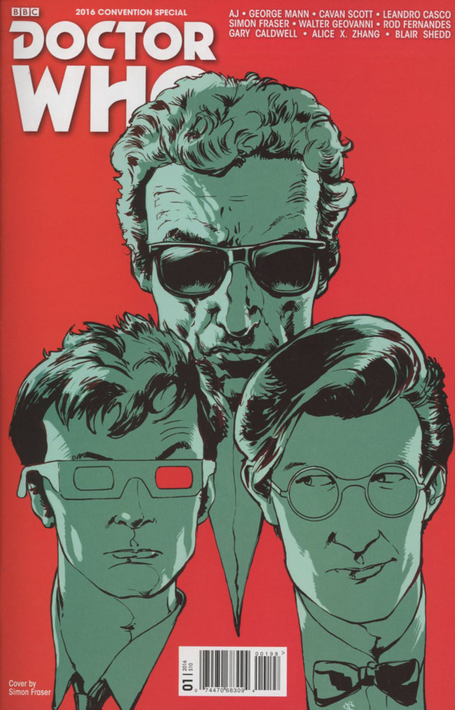 Doctor Who The Long Con One Shot Cover B Variant Simon Fraser Cover