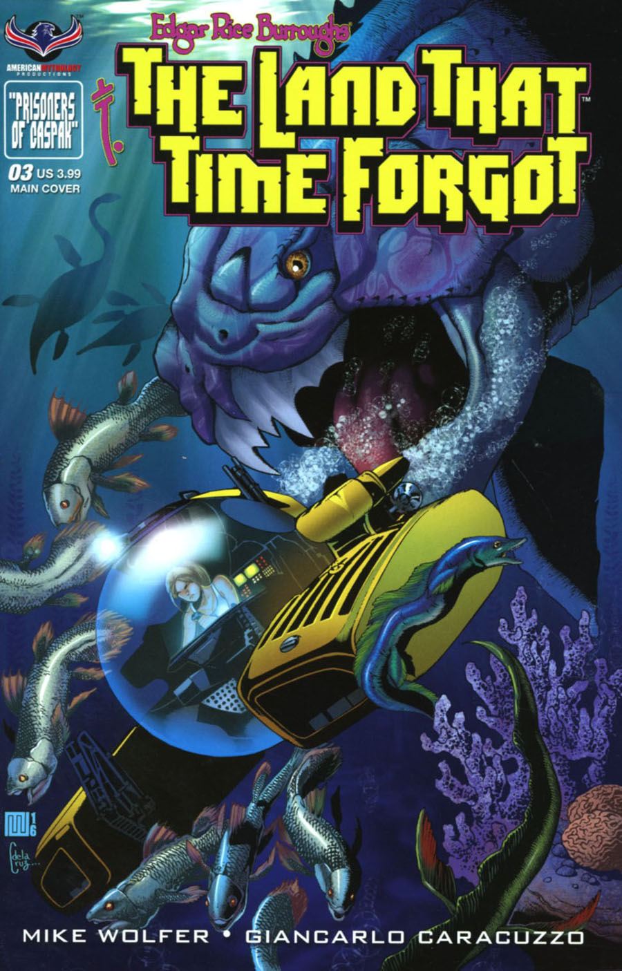 Edgar Rice Burroughs Land That Time Forgot #3 Cover A Regular Mike Wolfer Cover
