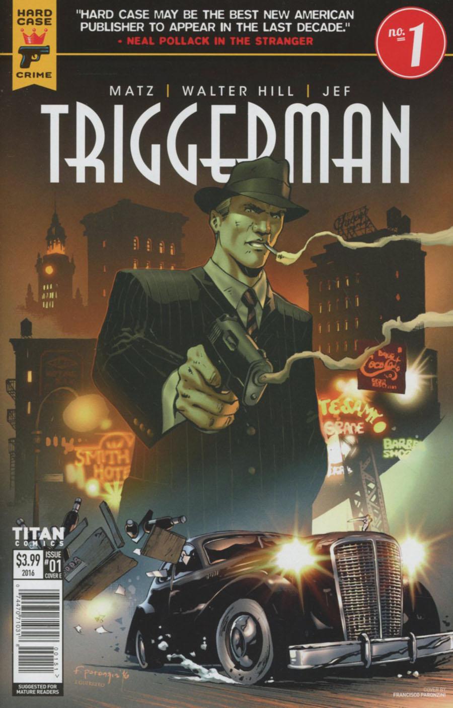 Hard Case Crime Triggerman #1 Cover E Variant Francisco Paronzini Cover