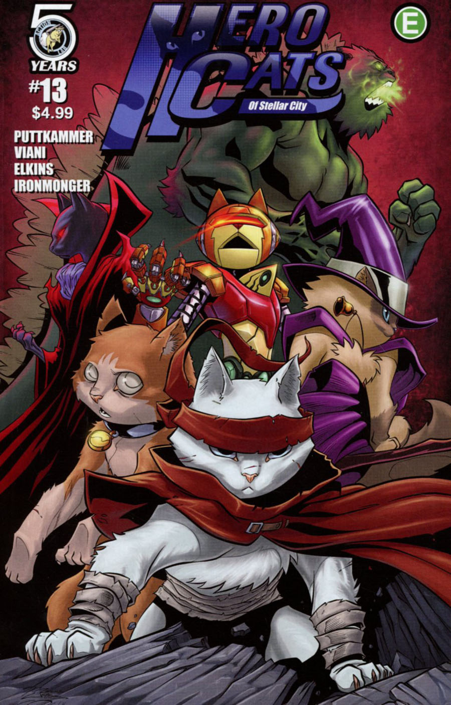 Hero Cats #13 Cover B Variant Marcus Williams Cover