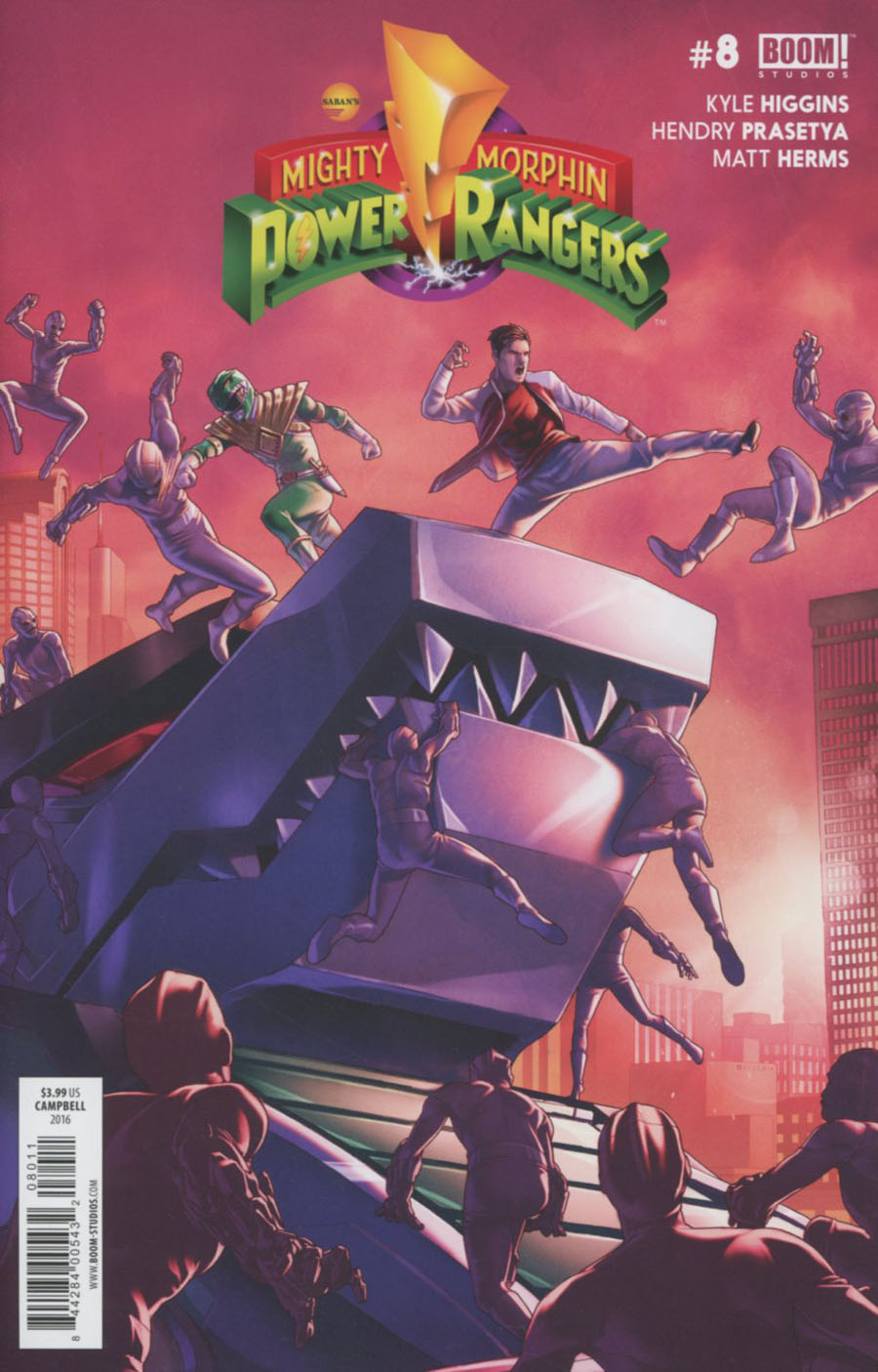 Mighty Morphin Power Rangers (BOOM Studios) #8 Cover A Regular Jamal Campbell Cover
