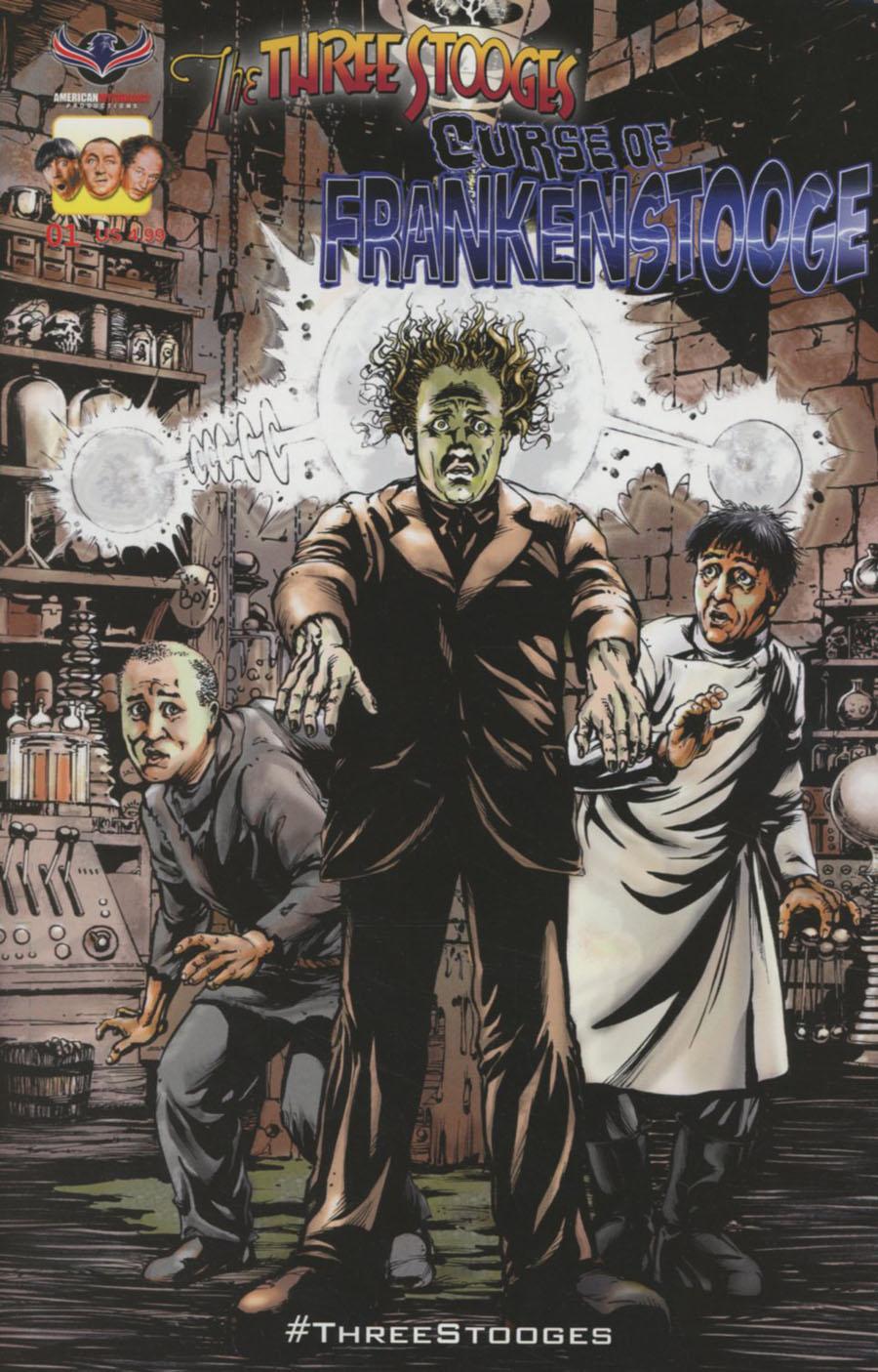 Three Stooges Curse Of Frankenstooge Cover A Regular Greg LaRocque Cover