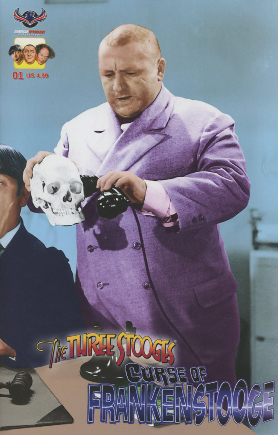 Three Stooges Curse Of Frankenstooge Cover C Variant Photo Wraparound Cover