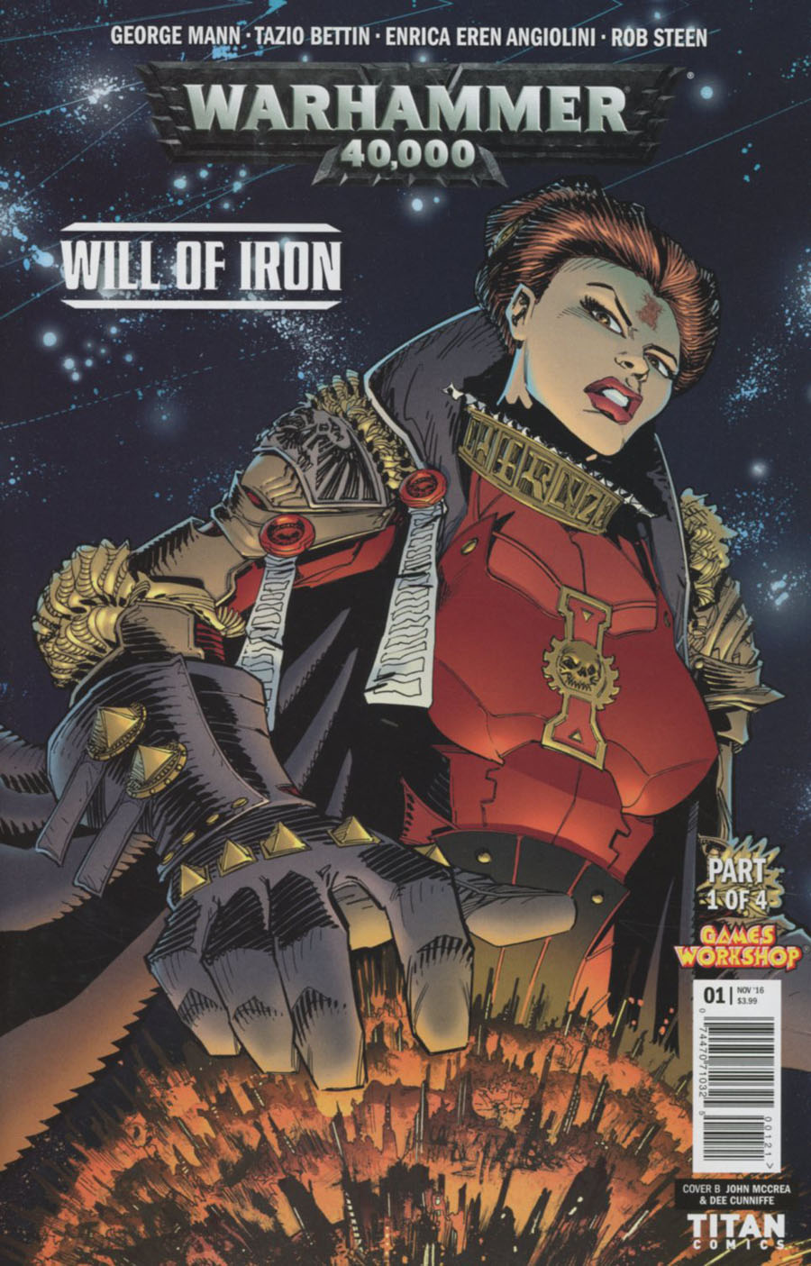 Warhammer 40000 Will Of Iron #1 Cover B Variant John McCrea & Dee Cunniffe Cover