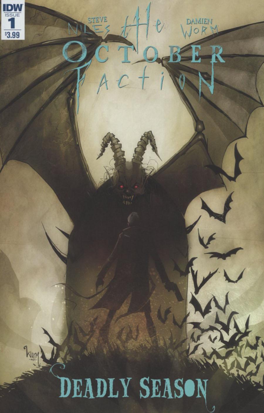 October Faction Deadly Season #1 Cover A Regular Damien Worm Cover