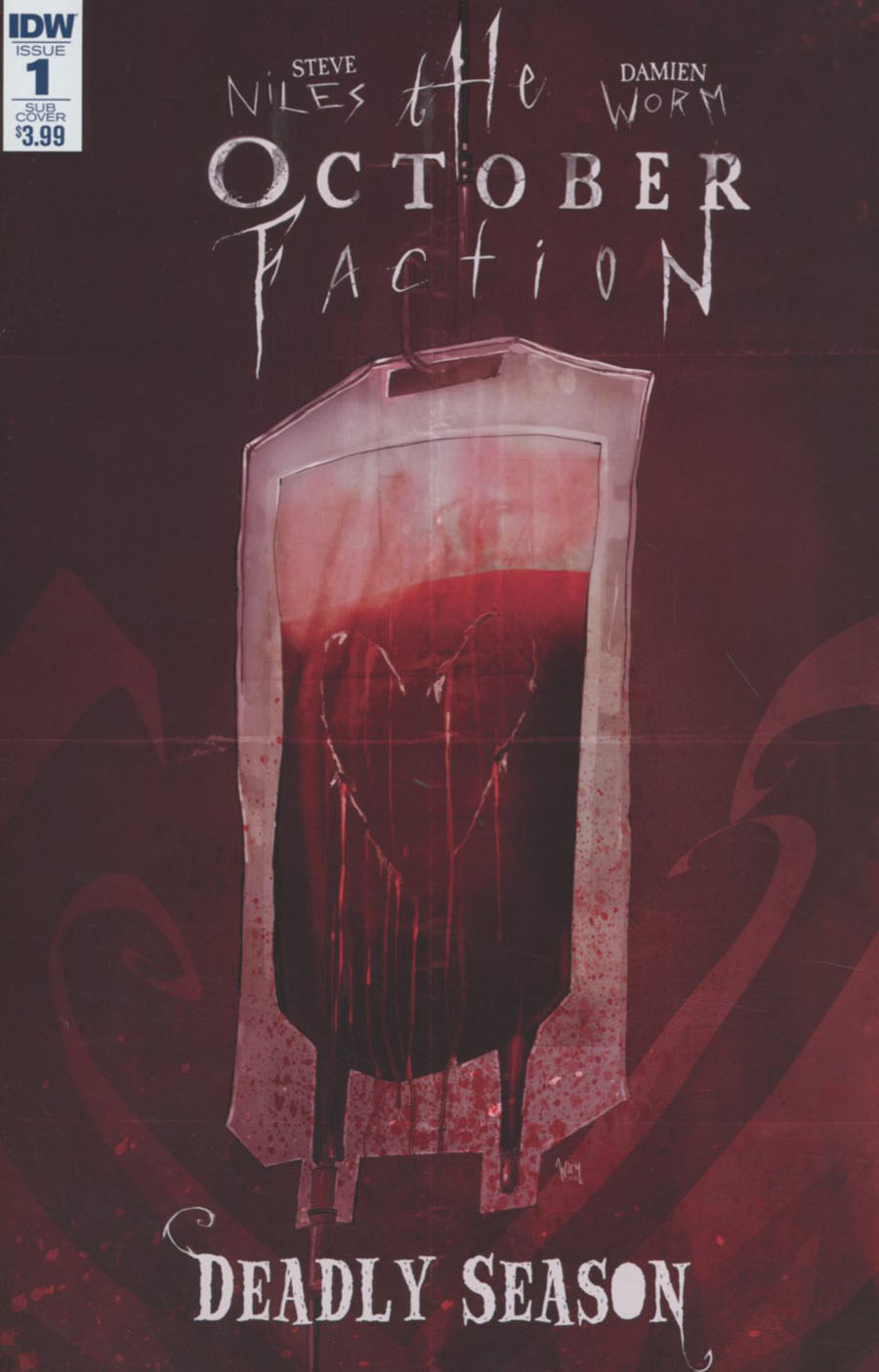 October Faction Deadly Season #1 Cover B Variant Damien Worm Subscription Cover
