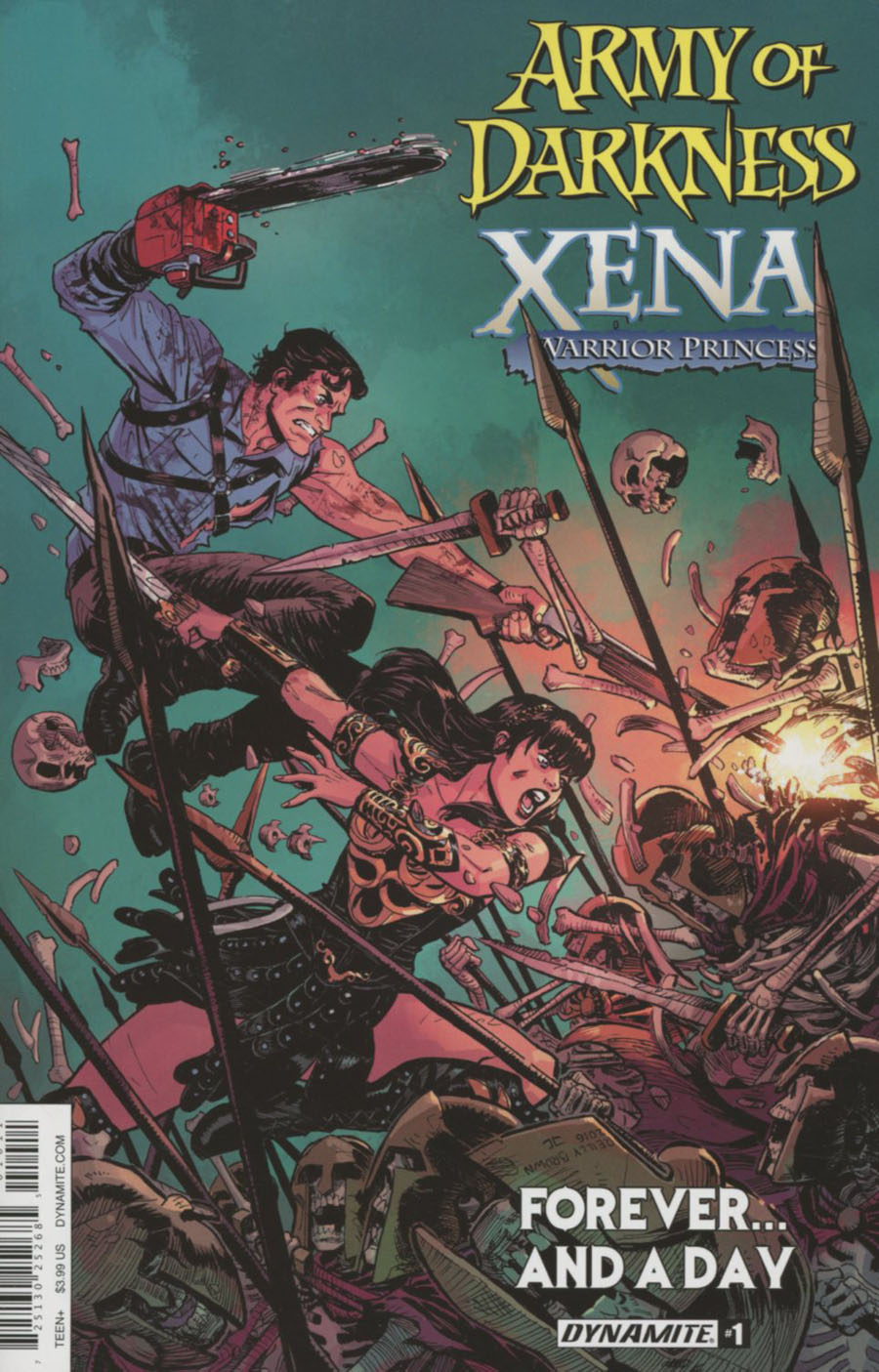 Army Of Darkness Xena Forever And A Day #1 Cover A Regular Reilly Brown Cover