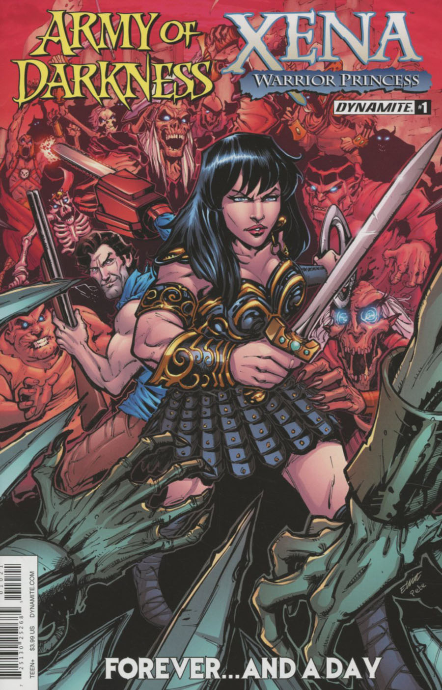 Army Of Darkness Xena Forever And A Day #1 Cover B Variant Elliot Fernandez Cover