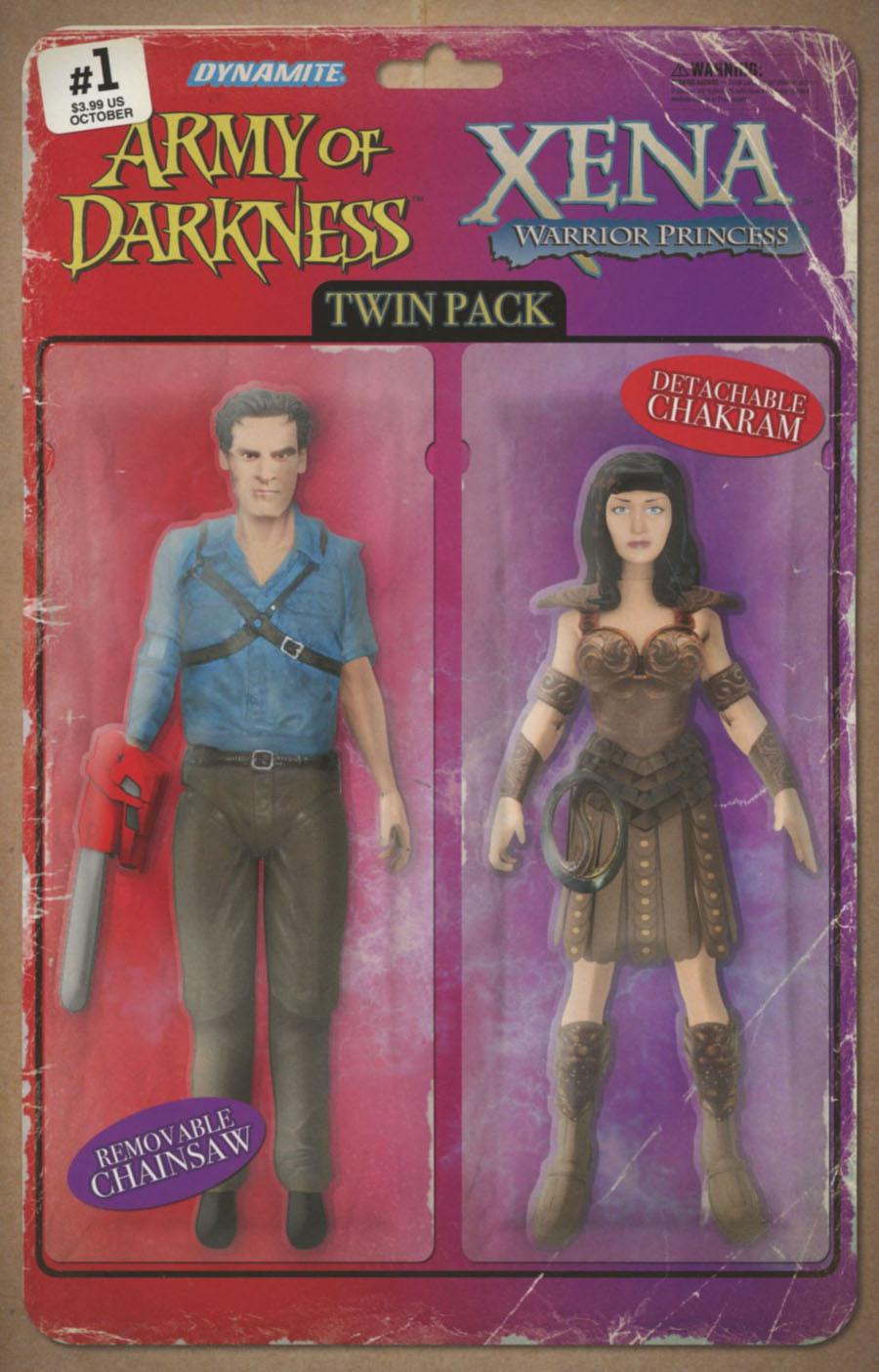 Army Of Darkness Xena Forever And A Day #1 Cover C Variant David Robinson Action Figure Cover