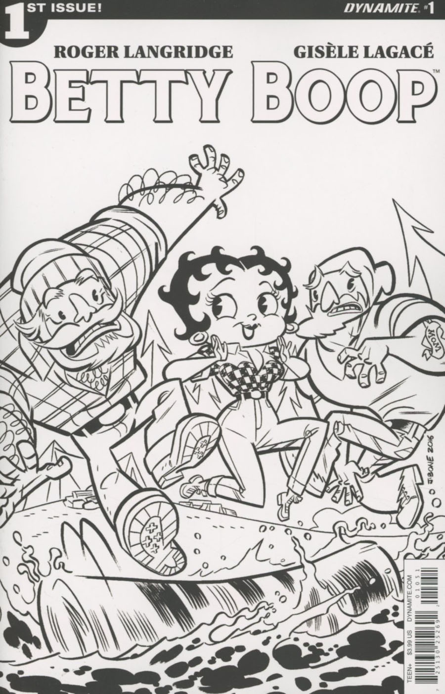 Betty Boop #1 Cover G Variant J Bone Adult Coloring Book Cover