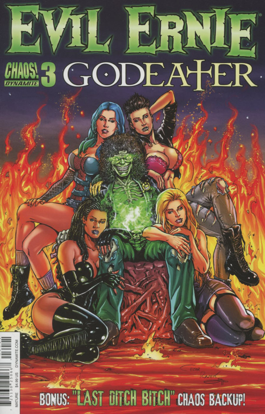 Evil Ernie Godeater #3 Cover B Variant Cezar Razek Cover