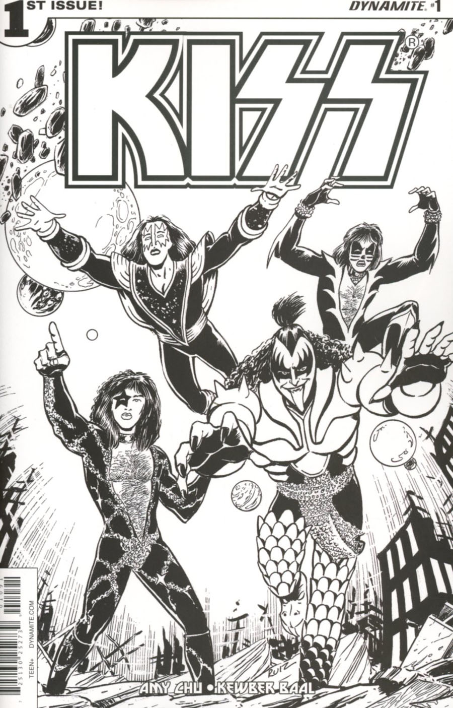 KISS Vol 3 #1 Cover J Variant Fernando Ruiz Adult Coloring Book Cover