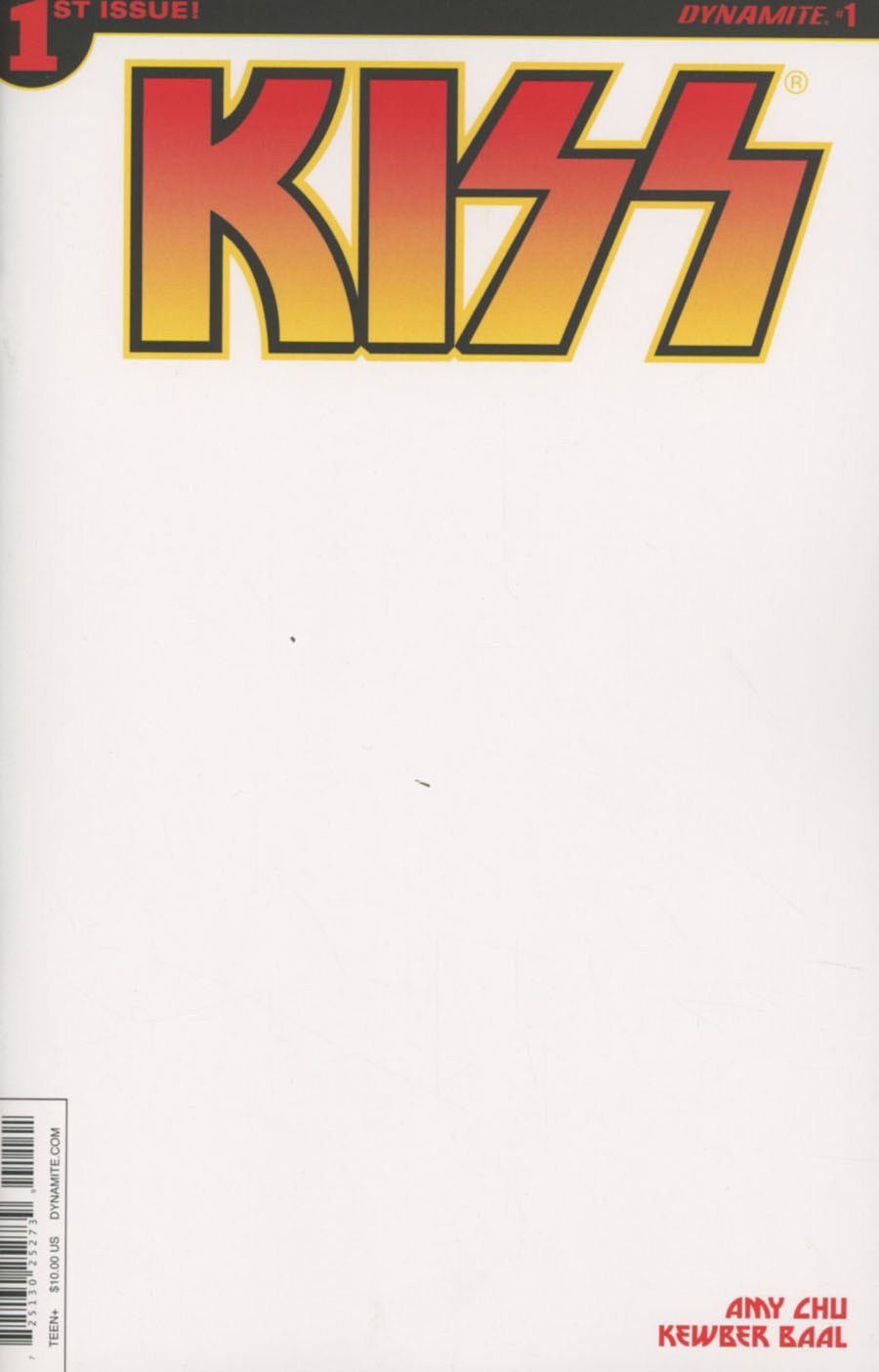 KISS Vol 3 #1 Cover K Variant Blank Authentix Cover