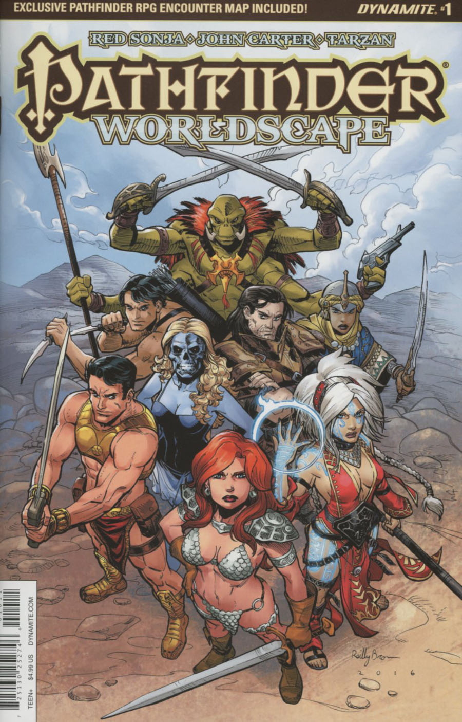Pathfinder Worldscape #1 Cover A Regular Reilly Brown Cover