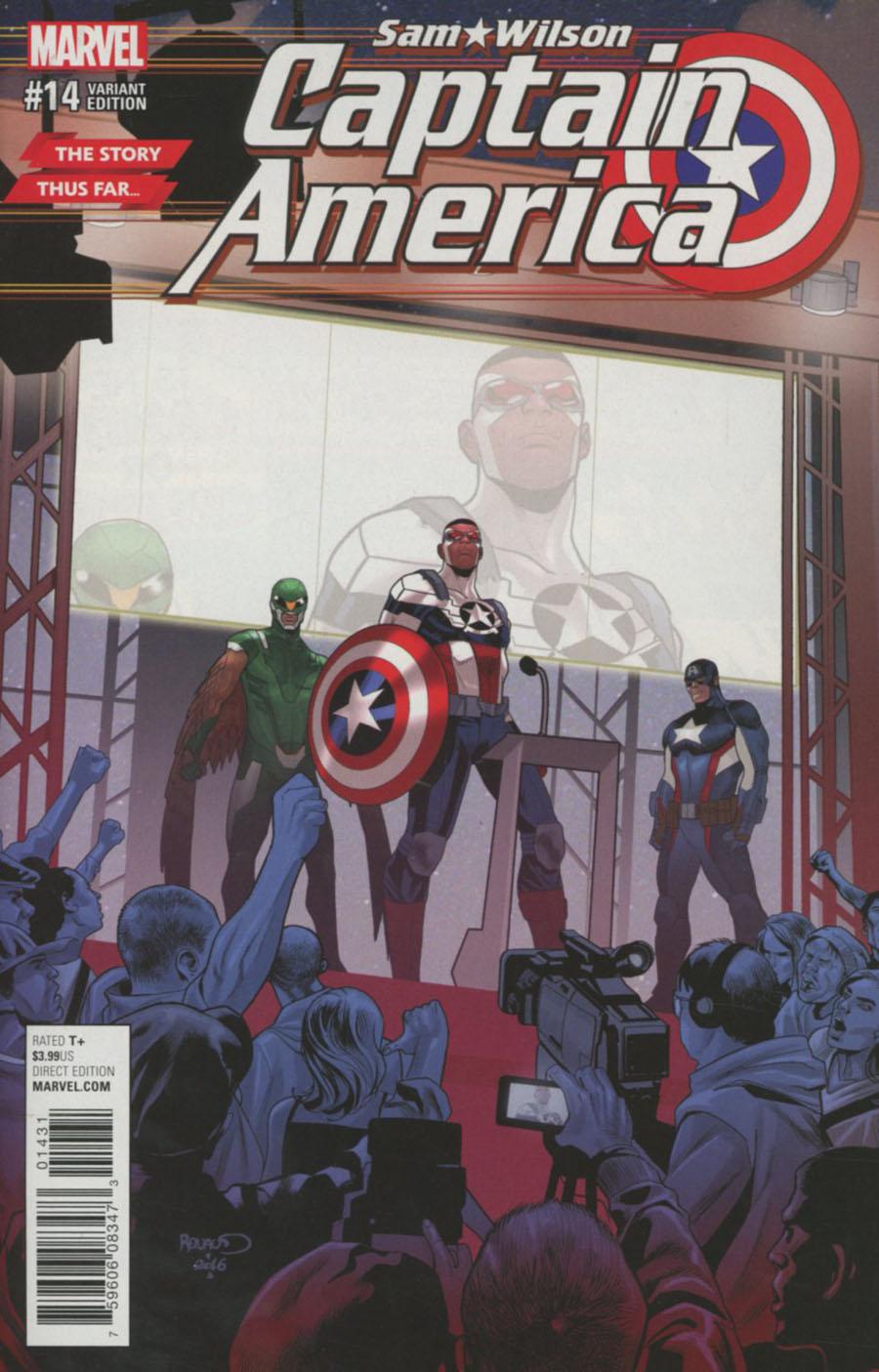 Captain America Sam Wilson #14 Cover C Variant Paul Renaud Story Thus Far Cover (Marvel Now Tie-In)