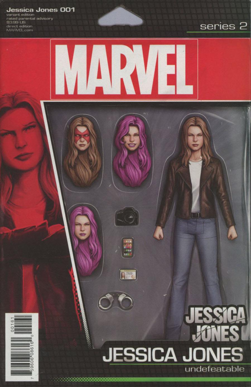 Jessica Jones #1 Cover E Variant John Tyler Christopher Action Figure Cover (Marvel Now Tie-In)