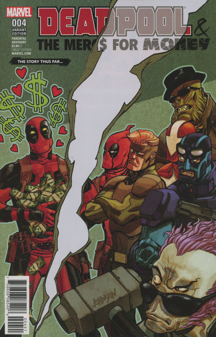 Deadpool And The Mercs For Money Vol 2 #4 Cover D Variant Story Thus Far Cover (Marvel Now Tie-In)