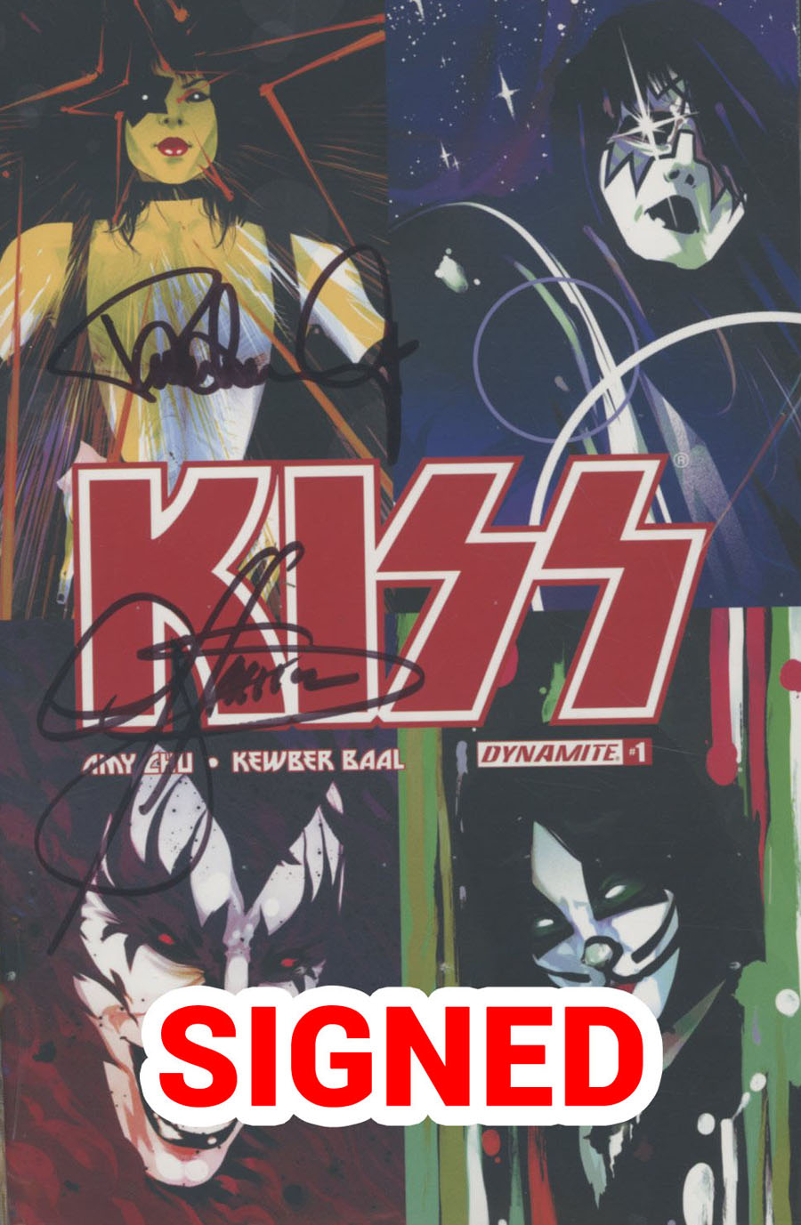 KISS Vol 3 #1 Cover O Incentive Goni Montes Cardstock Variant Cover Signed By Gene Simmons & Paul Stanley