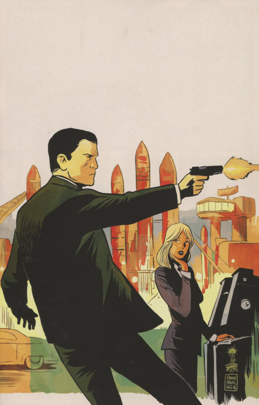 James Bond Hammerhead #1 Cover E Incentive Francesco Francavilla Virgin Cover