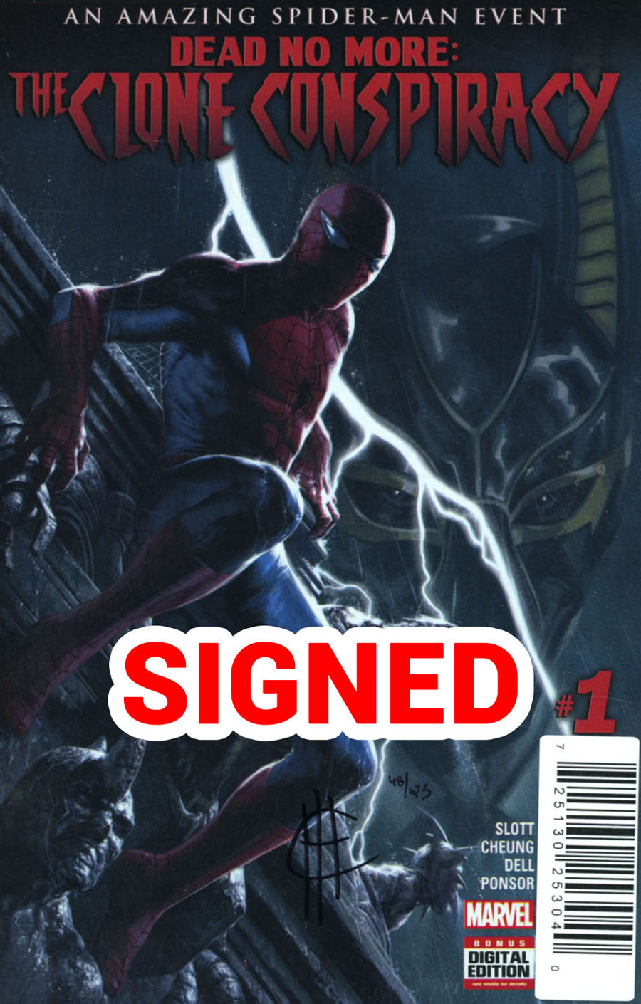 Clone Conspiracy #1 Cover F DF Signed By Jim Cheung