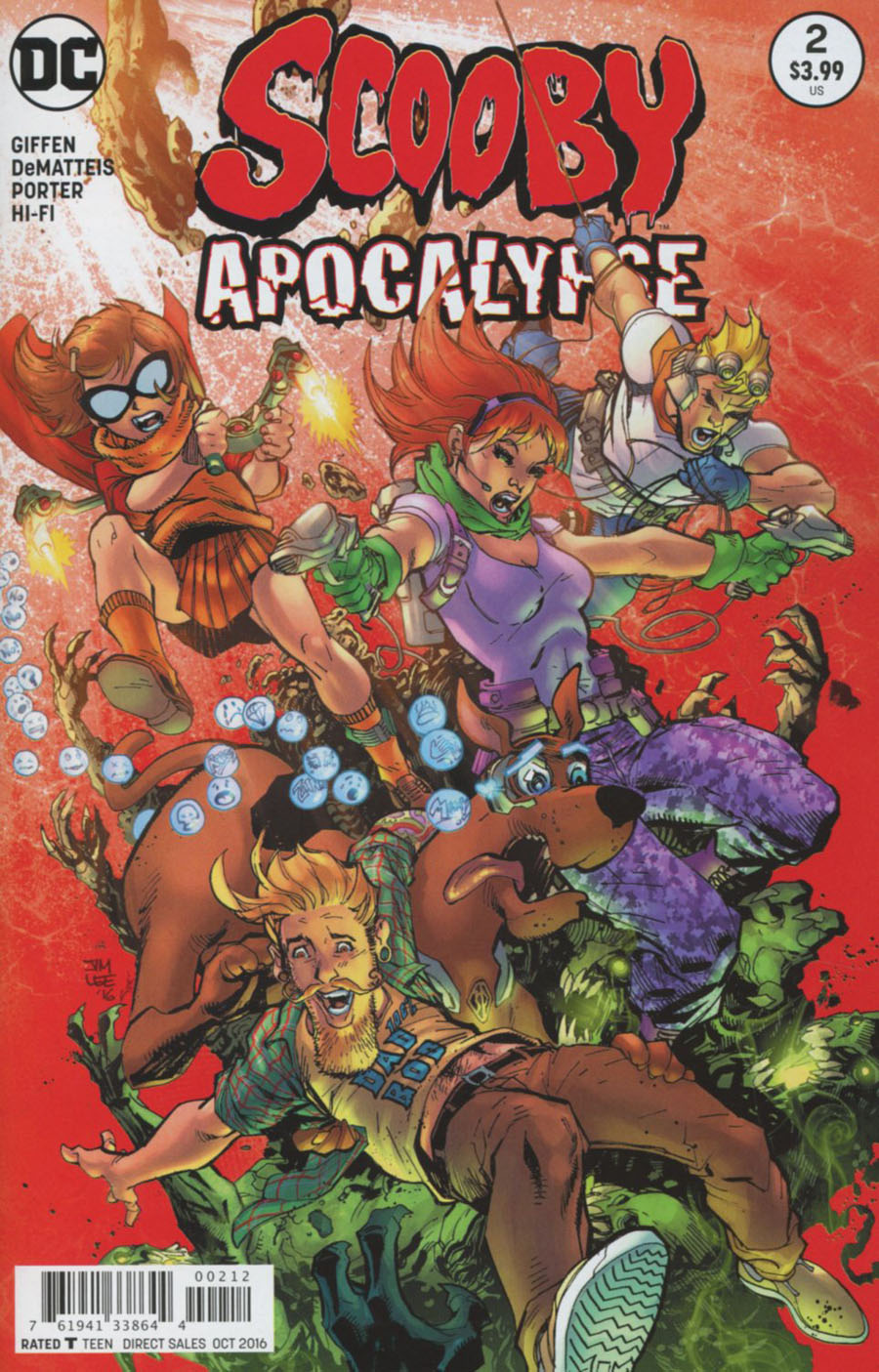 Scooby Apocalypse #2 Cover C 2nd Ptg Variant Jim Lee Cover