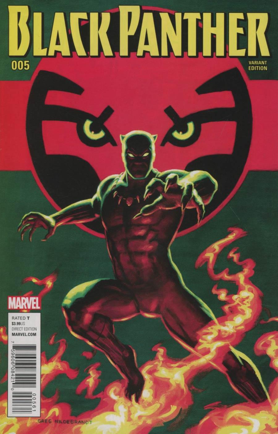 Black Panther Vol 6 #5 Cover G Incentive Greg Hildebrandt Classic Artist Variant Cover