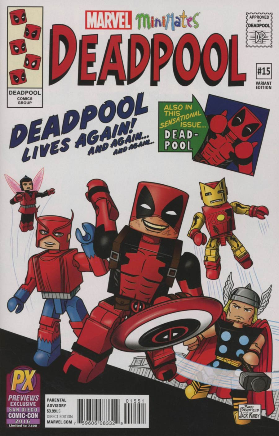 Deadpool Vol 5 #15 Cover D SDCC 2016 Exclusive Minimates Variant Cover (Civil War II Tie-In)