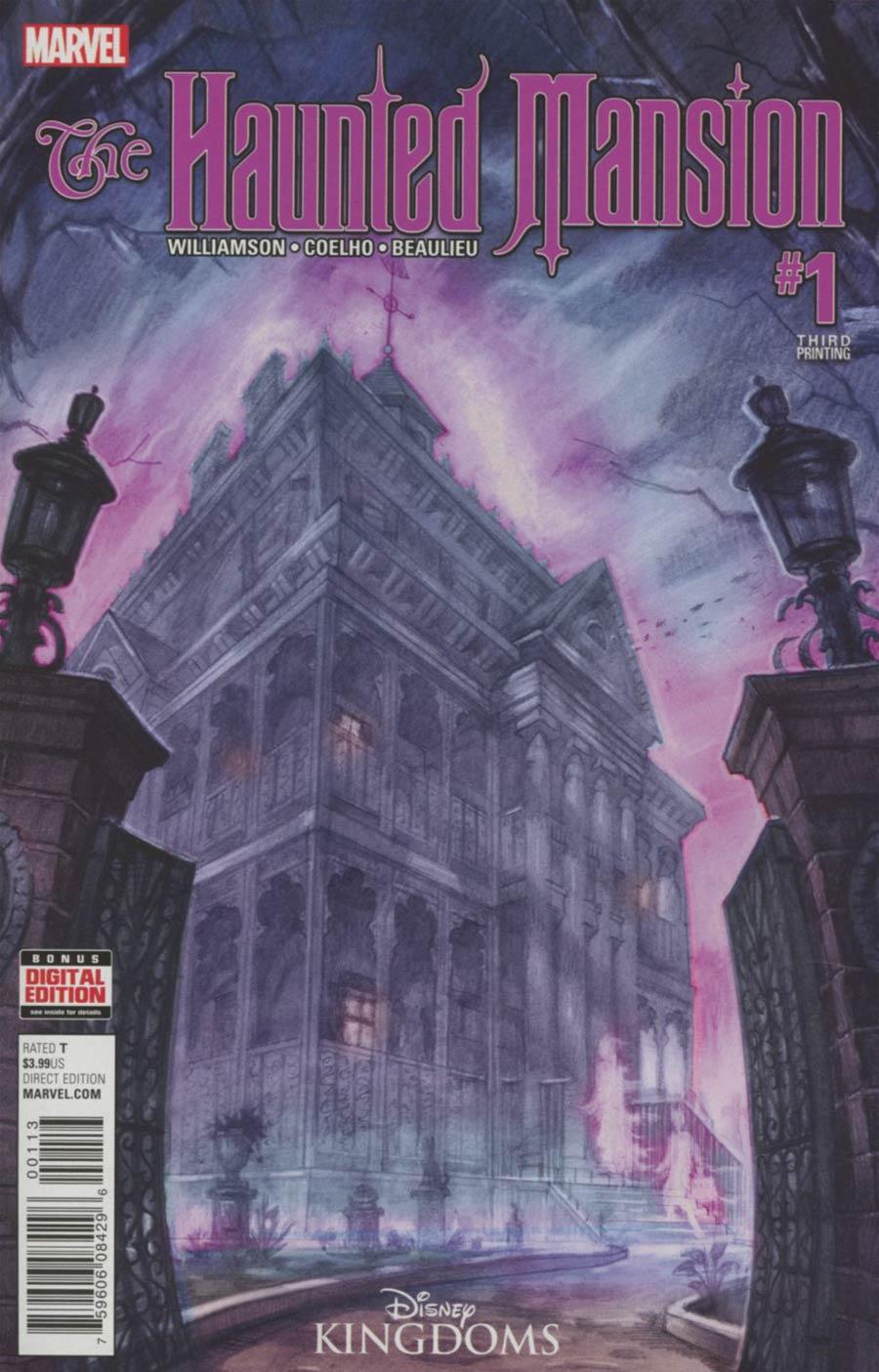Disney Kingdoms Haunted Mansion #1 Cover F 3rd Ptg EM Gist Variant Cover