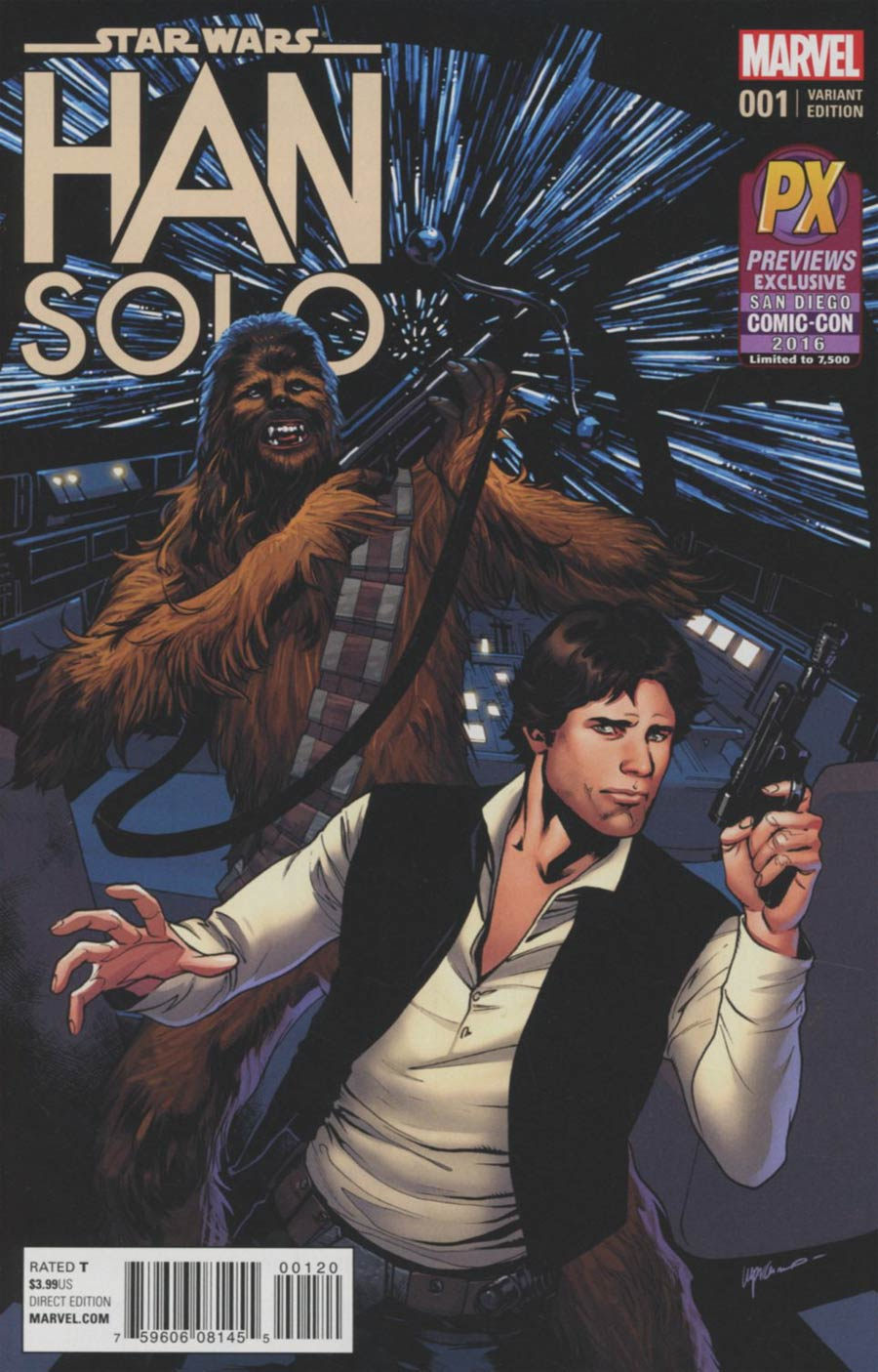 Star Wars Han Solo #1 Cover I SDCC 2016 Exclusive Emanuela Lupacchino Variant Cover
