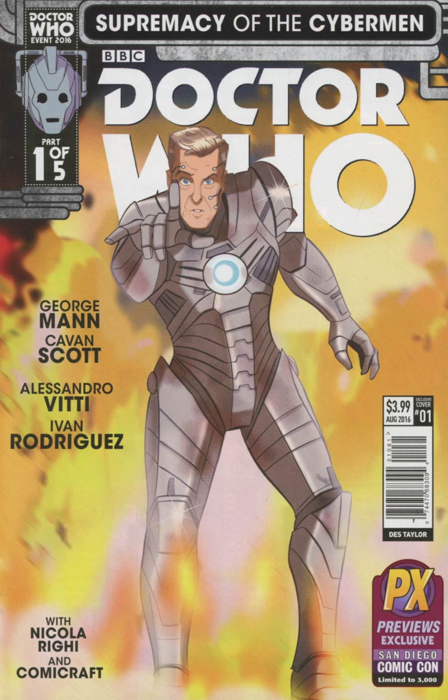 Doctor Who Event 2016 Supremacy Of The Cybermen #1 Cover F SDCC 2016 Exclusive Variant Cover