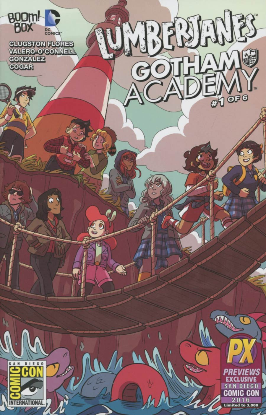 Lumberjanes Gotham Academy #1 Cover F SDCC 2016 Exclusive Variant Cover