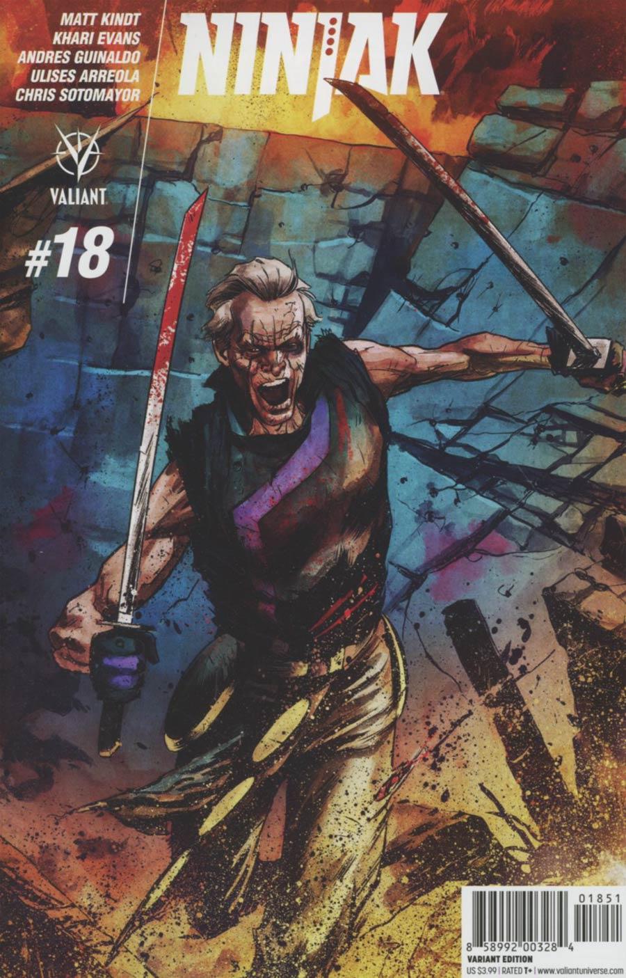 Ninjak Vol 3 #18 Cover E Incentive Adam Gorham Interlocking B Variant Cover