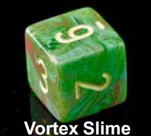 Vortex Slime/Yellow Bag of 20 Assorted Dice