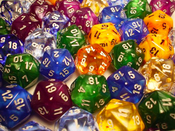 Dice Menagerie #9 Bag of 50 Assorted d20s