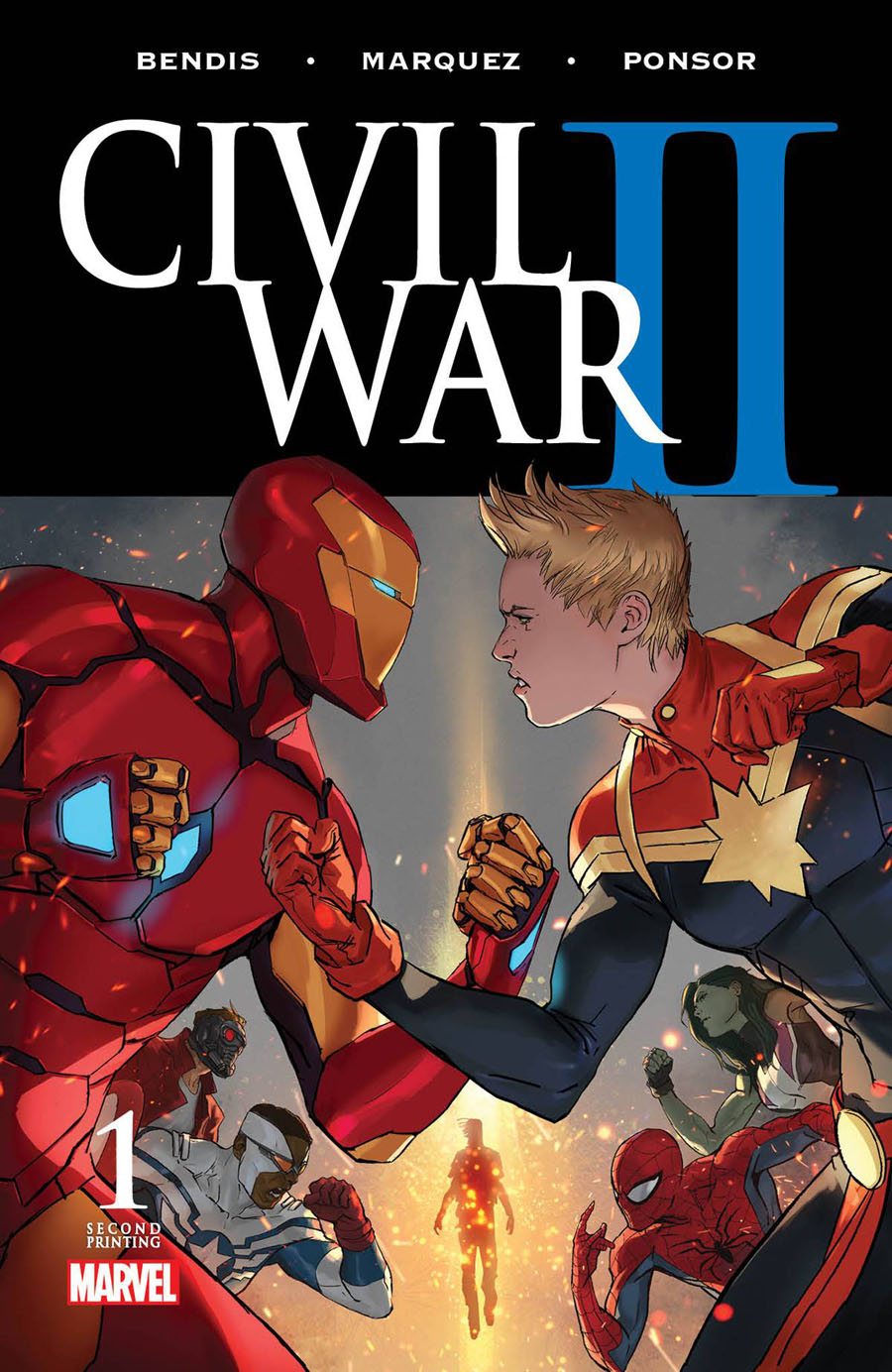 Civil War II #1 Cover Z 2nd Ptg Marko Djurdjevic Variant Cover