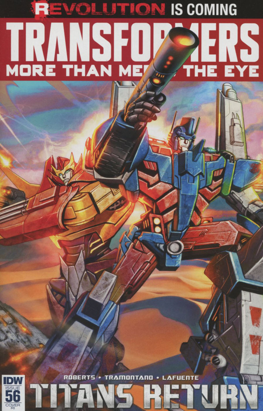 Transformers More Than Meets The Eye #56 Cover C Incentive Carlos Valenzuela Variant Cover (Revolution Tie-In)